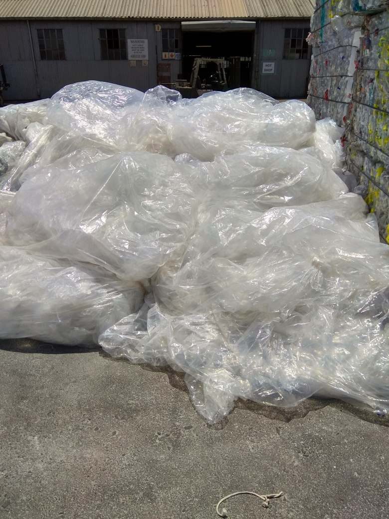 clear plastic clean baled ready 8044