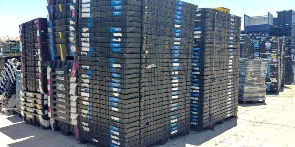 HDPE thermoforming pallets post-industrial flake 14494