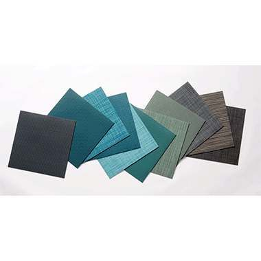 PVC woven flooring in rolls and tiles 23211