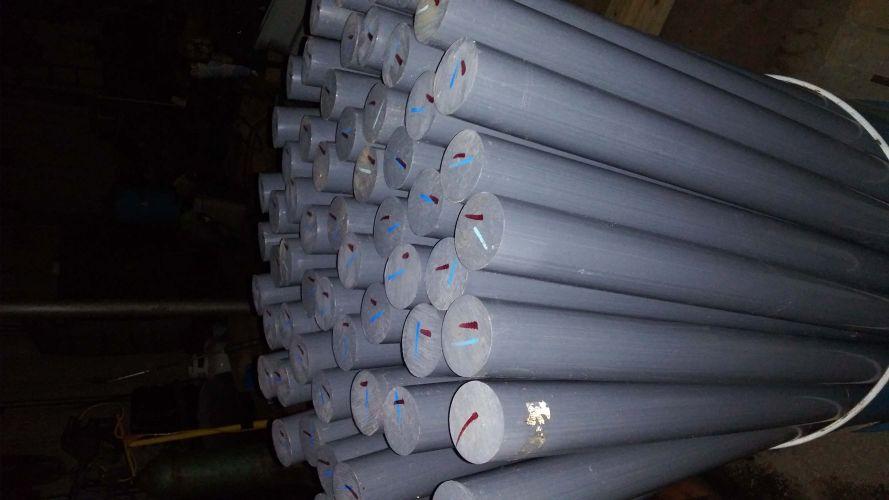"2 3/8"" diameter x 5 ft PVC solid stock 20881"