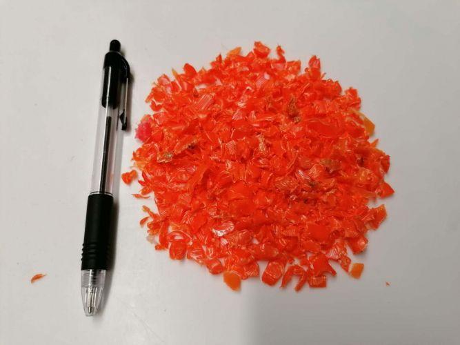 Orange HDPE Regrind 18750