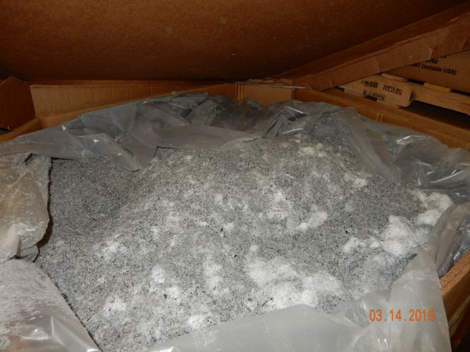HDPE fines from post industrrial fuel tank  12142
