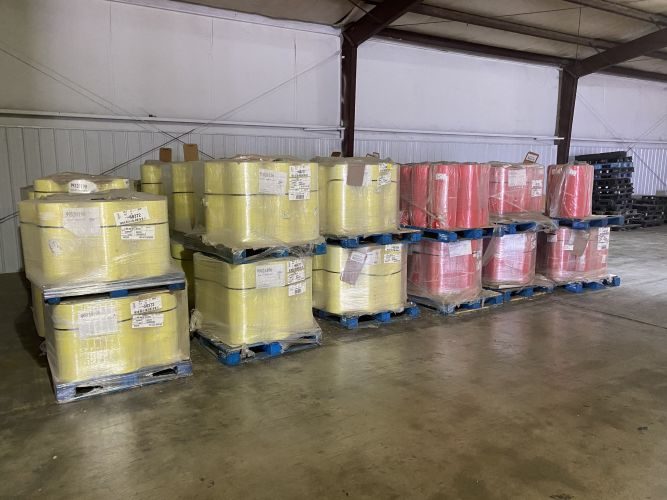 Pure LDPE post industrial rolls 23856