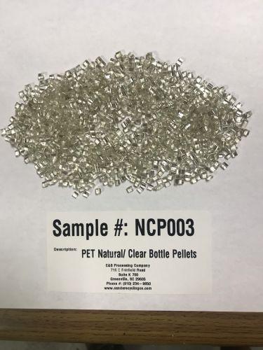 PET  Natural/ Clear Bottle Purge Pellets 18396