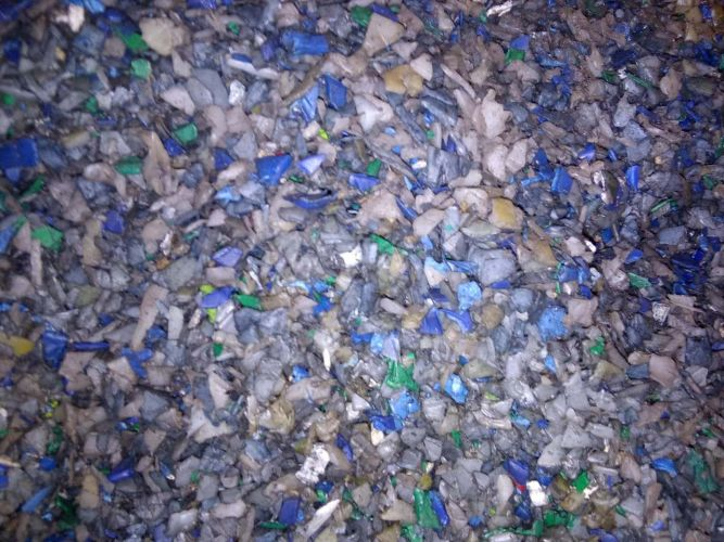 HDPE HMW drums mixed color flake unwashed. 14537