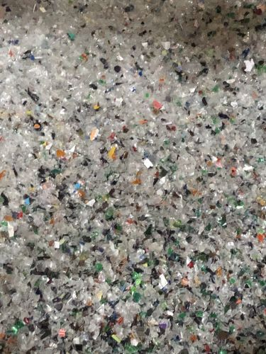 Washed PET post consumer Bottle Flakes Mix color 16364