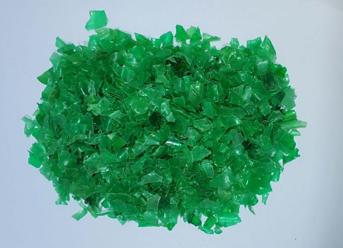 Green PET Bottle Flakes 13864