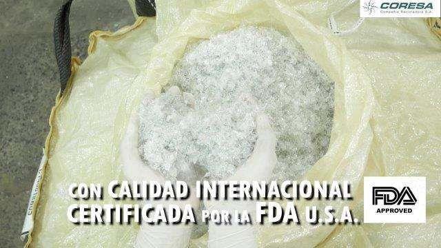 PET FLAKE CLEAR food grade FDA  20702