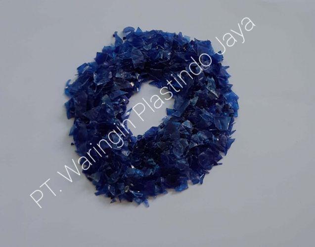 Recycle PET flakes Dark Blue 19531