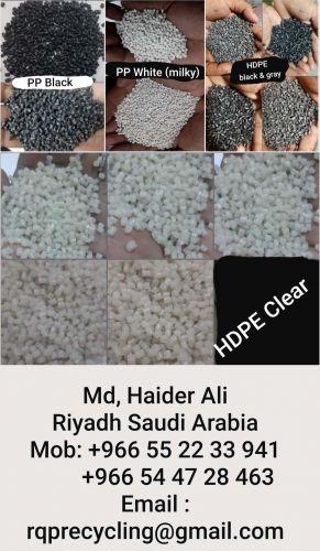 PP Black, HDPE Black, PP White, HDPE Clear  14917