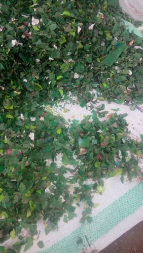 green pet flake unwashed 13434