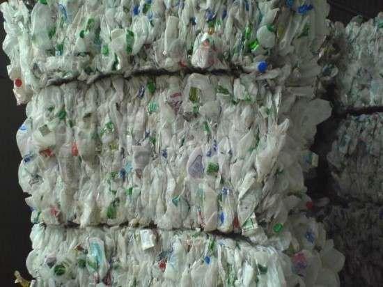 HDPE milk bottles baled 19858