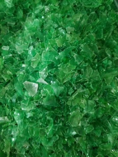 Hot washed PET Flakes - Green 12008