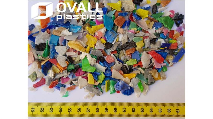 HDPE REGRINDED MIXED COLOR WASHED 11343