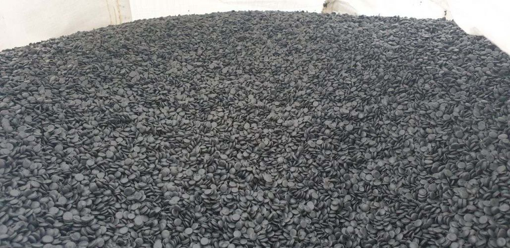 Regranulate LDPE black/grey  19421