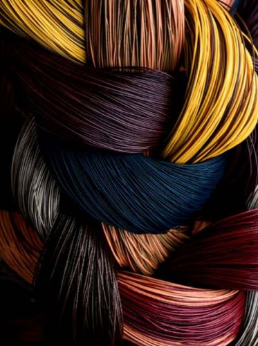 PVC yarn with PES core 21754