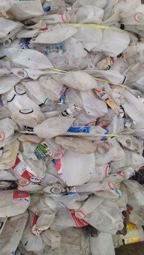 HDPE milk jug bottles baled postconsumer 22266