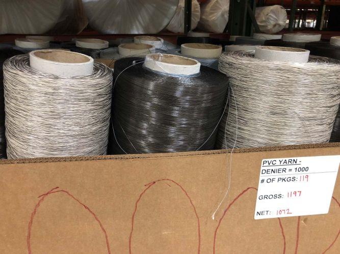PVC coated polyester yarn on tubes 14387