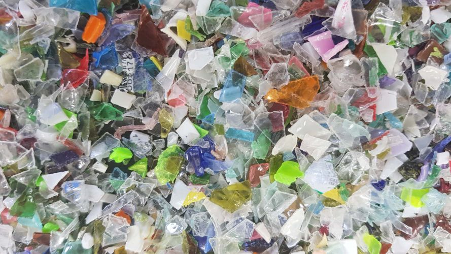 PET Bottle flake with Mixed color 17489
