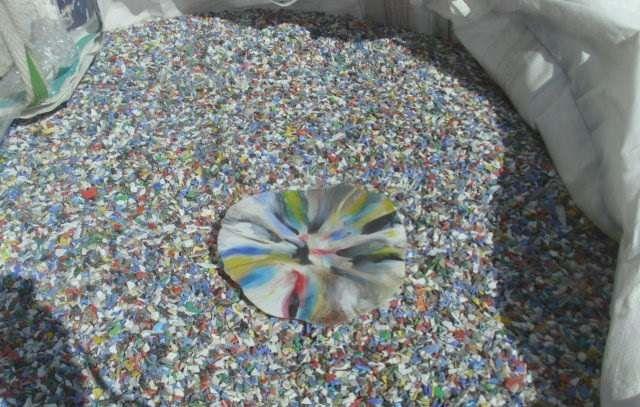 PP regrind mix  color 575