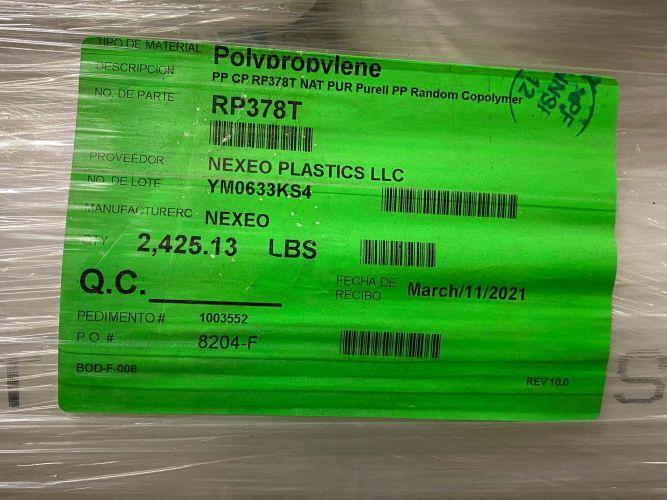 Polypropylene CP RP378T NAT PUR Purell Random Copolymer 23408
