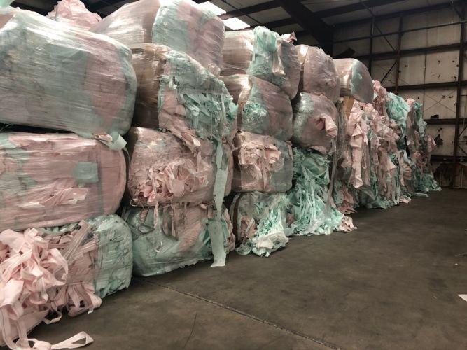 Polyester air bag scrap  10409