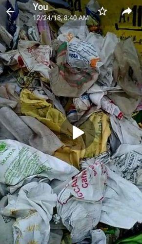 50 kg plastic bag scrap  7640